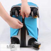 Bőröndhuzat, fényképező mintás, XL méret