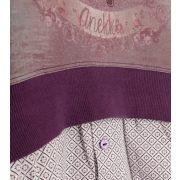 Anekke gyermek kapucnis pulóver, tavaszi vékony, padlizsán lila színben