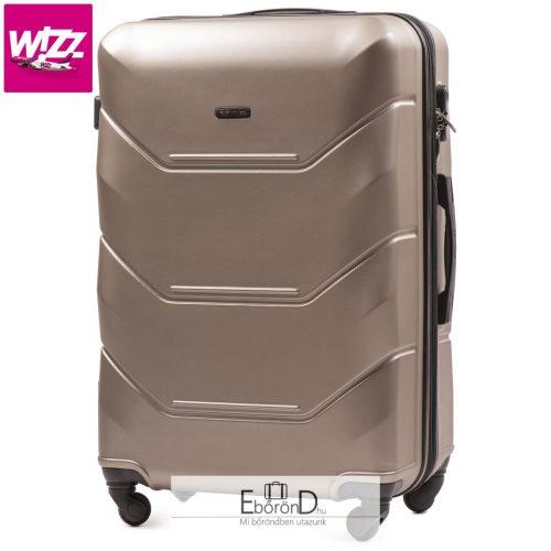 S méretű Kabinbőrönd pezsgő színű 55x37x23  Wizzair Wings 147-4