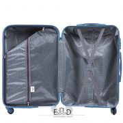Bőrönd L méret, ezüst színű, kiváló minőség, Wings kollekció