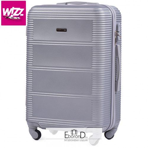 Wings 203- Akciós kabinbőrönd ezüst színben