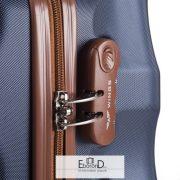 S méretű bőrönd, kávébarna színű, Wings 402