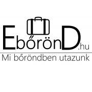 Bőrönd L méretű,  törtfehér színű, 4 kerekű, nagy méretű