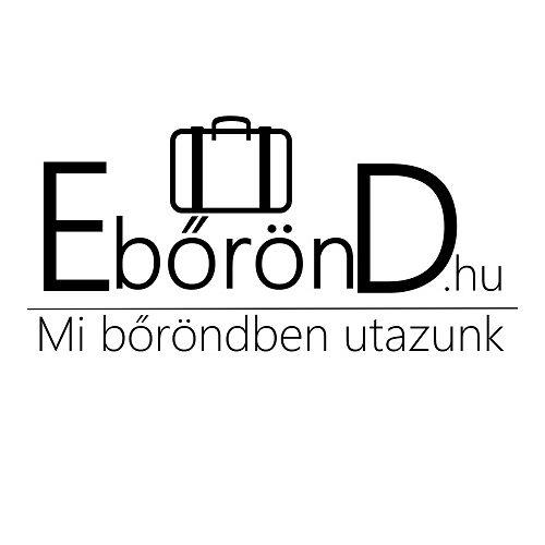 Bőrönd M méret, ezüst színű