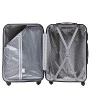 Bőrönd M-es, közepes méretű, sötétszürke