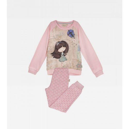 Anekke gyermek pizsama szett, rózsaszín színben