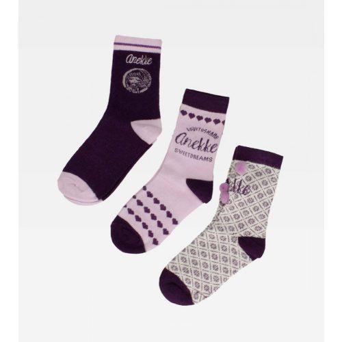 Anekke gyermek textil zokni 3 pár egyben